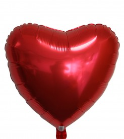 Herz-Ballon aus Aluminium Partydeko rot