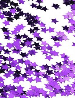 Sterne Konfetti Tischdeko Metall-Optik lila 14g