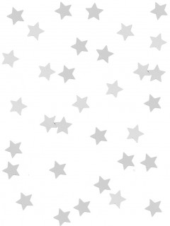 Stern-Konfetti Glänzende Sterne silber 14g