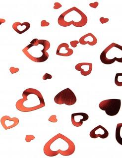 Herz-Konfetti Ausgeschnittene Herzen Valentinstag-Konfetti rot 14g