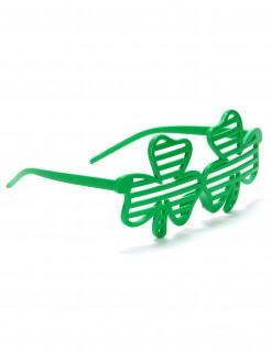 Lustige Kleeblatt-Brille St. Patrick's Day grün