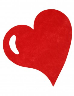 Tisch-Unterlagen Herz Tischdeko 50 Stück rot