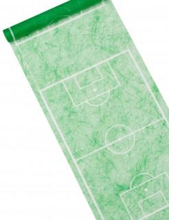Fussball-Spielfeld-Tischläufer grün-weiß 5m