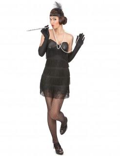 Edles Charleston-Kostüm für Damen schwarz