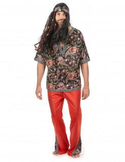 70er Jahre Hippie-Herrenkostüm bunt