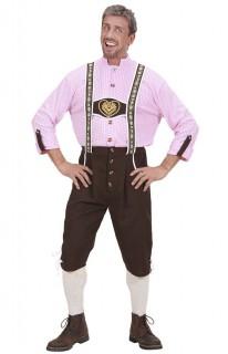 Trachtenhosen Tracht Kostüm Bayer braun-rosa-weiss