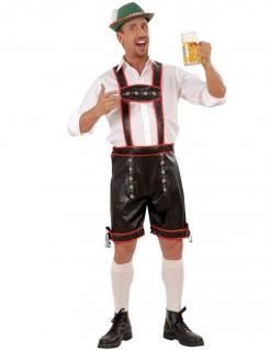 Trachtenhose Herren Oktoberfest schwarz-rot