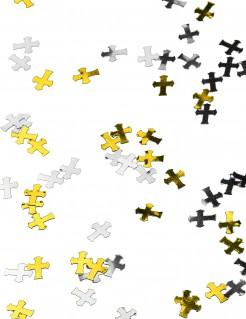 Kreuz-Konfetti Partydeko gold-silber-schwarz 14g