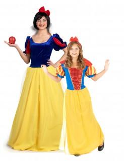 Bezaubernde Märchenprinzessinnen Paarkostüm für Mutter und Tochter blau-gelb-rot