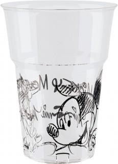 Micky-Maus-Becher Disney-Partybecher Lizenzartikel 8 Stück transparent-schwarz