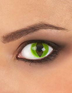 Kontaktlinsen Schlange grün-schwarz