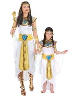 Königin von Ägypten - Paarkostüm für Mutter und Tochter, weiß