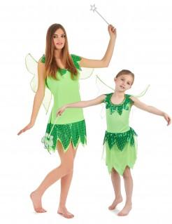 Süsses Feen-Paarkostüm für Mutter und Tochter grün