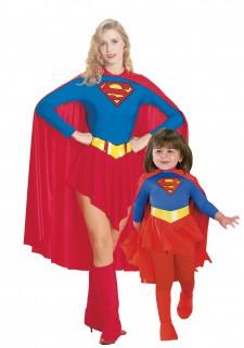 Supergirl™-Paarkostüm für Mutter und Tochter Karneval rot-blau