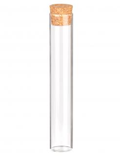 Reagenzglas mit Korken Deko-Glas mit Krokdeckel transparent-braun 15x2,5cm