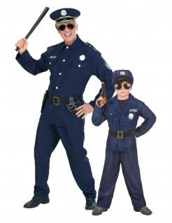 Herren-Paarkostüm Polizisten - blau