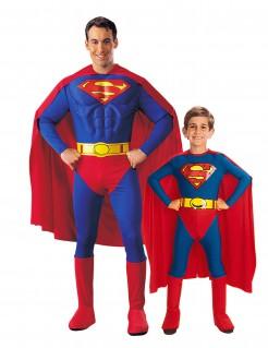 Superman-Kostüm für Vater und Sohn, blau-rot-gelb