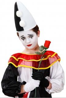 Pantomime Kinderhut Kostümzubehör schwarz-weiss
