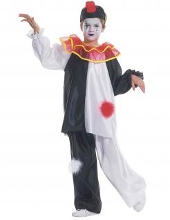 Harlekin Kinderkostüm Pierrot schwarz-weiss