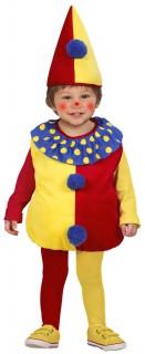 Clown Kinderkostüm Harlekin rot-gelb-blau