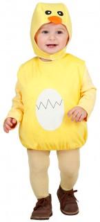 Süsses Küken Kinderkostüm Huhn gelb-weiss