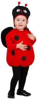 Marienkäfer-Mädchenkostüm Tier rot