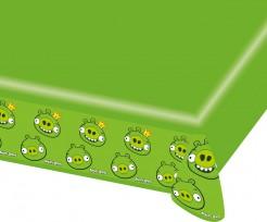 Angry-Birds-Tischdecke Lizenzartikel für Fans grün 180x120cm
