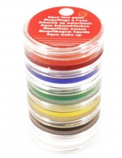 Schminkdosen Make-Up Zubehör auf Wasserbasis 6-teilig bunt 96g