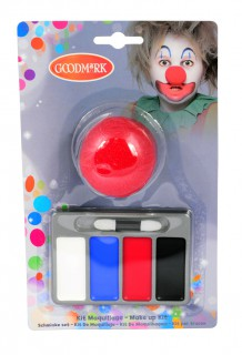 Make-Up Set Clown Schminkset 6-teilig bunt