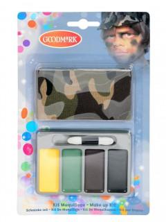 Soldat Schmink-Set für Kinder 6-teilig bunt