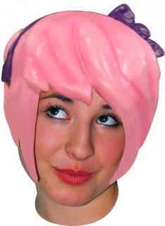 Manga-Perücke Latexperücke rosa
