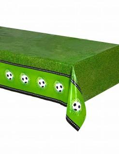 Fussball Tischdecke Party-Deko schwarz-weiss-grün 130x180cm