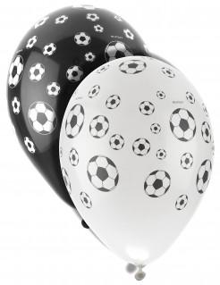 Fussball Luftballons Party-Deko 8 Stück schwarz-weiss 30cm