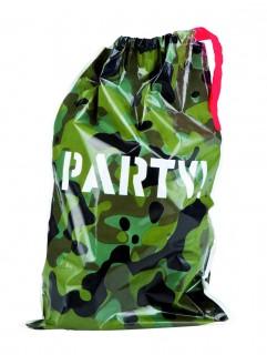 Camouflage-Geschenktüten Party-Geschenkbeutel 6 Stück grün-braun-schwarz 23x15cm