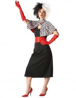 Cruella de Vil Disney Damenkostüm Lizenzware schwarz-weiss