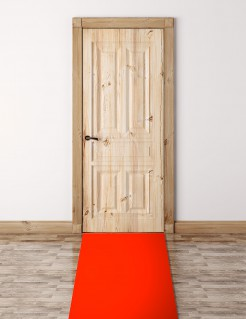 VIP Teppich Läufer rot 450x60cm
