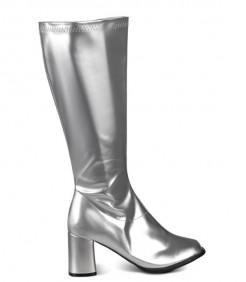 Damen-Stiefel 80-er Jahre Silber