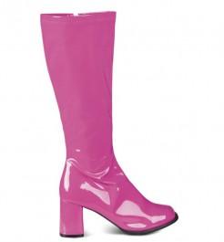 Lackstiefel Damenstiefel pink