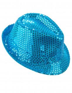 Edler Pailletten-Hut für Damen blau