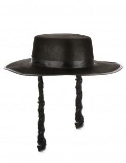 Rabbihut jüdische Kopfbedeckung schwarz