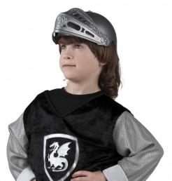 Ritterhelm für Kinder Ritterkostüm-Accessoire grau