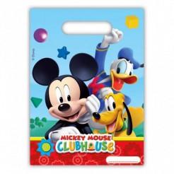 Mickey Mouse Geschenktüten mit Micky Donald und Pluto Disney-Lizenzartikel 6 Stück bunt