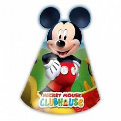 Mickey Mouse Partyhüte Disney-Lizenzartikel 6 Stück bunt