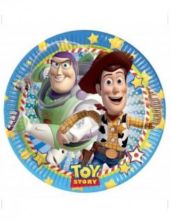 Toy Story Pappteller Buzz und Woody Sternenmotiv Disney-Lizenzartikel 8 Stück bunt 23cm