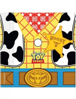 Toy Story Servietten Woody Motiv Disney-Lizenzartikel 20 Stück gelb-rot-weiss 33x33cm