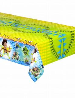 Plastik-Tischdecke mit Toy Story Motiv in Blau-Gelb
