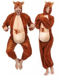 Känguru Unisex-Kostüm braun-beige