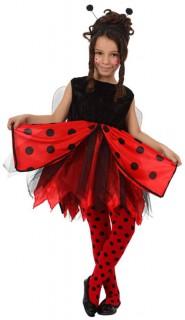 Marienkäfer-Kinderkostüm für Mädchen schwarz-rot