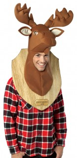 Hirschkopf-Trophäe-Kostüm braun
