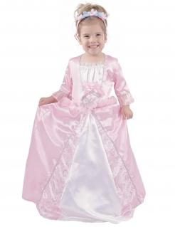Vornehme Prinzessin Hofdame Kinderkostüm rosa-weiss